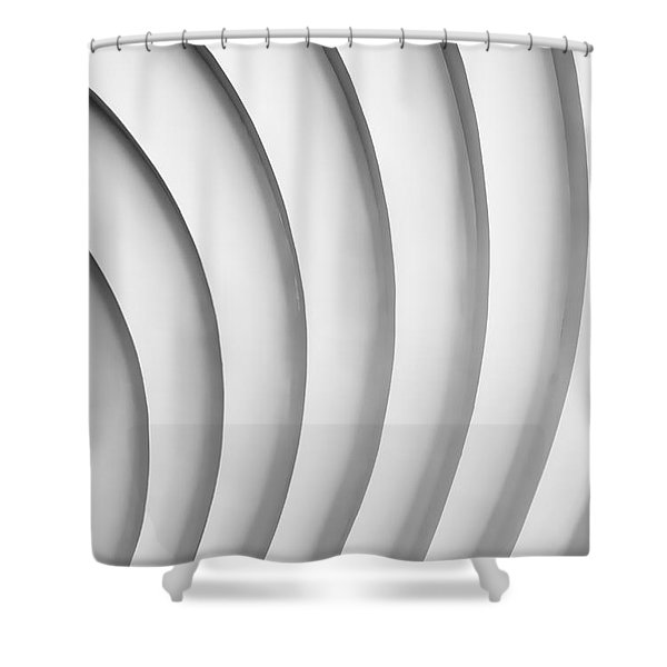 White 2 Shower Curtain
