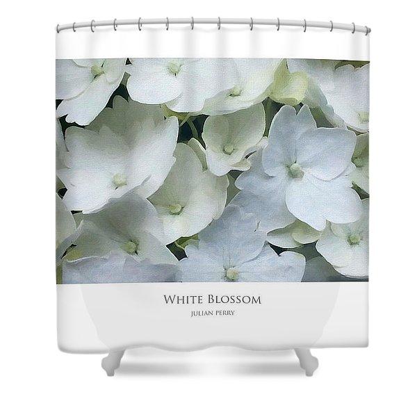White Blossom Shower Curtain