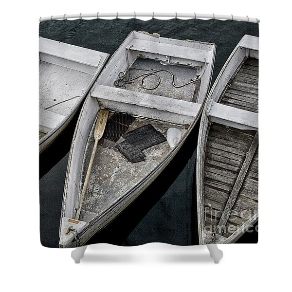 White Boats Shower Curtain