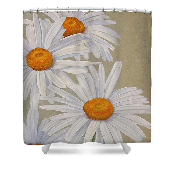 White Daisies Shower Curtain
