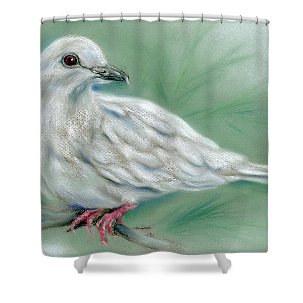 White Dove In The Pine Shower Curtain