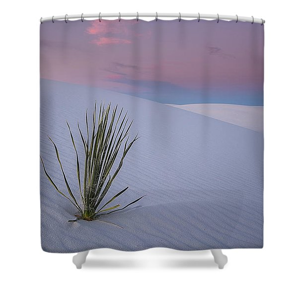 White Dunes Shower Curtain