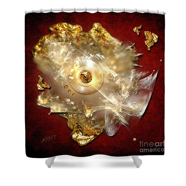 White Gold Shower Curtain
