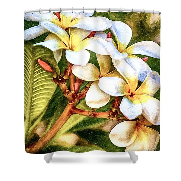 Shower Curtain featuring the painting White Gold by David Millenheft