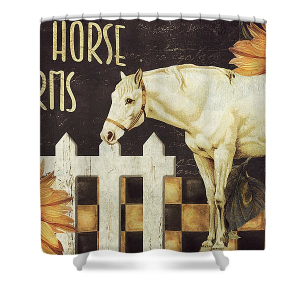 White Horse Farms Vermont Shower Curtain