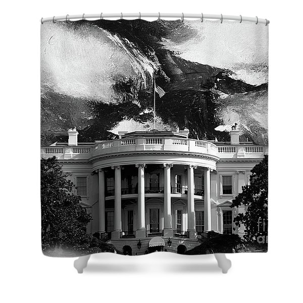 White House 002 Shower Curtain