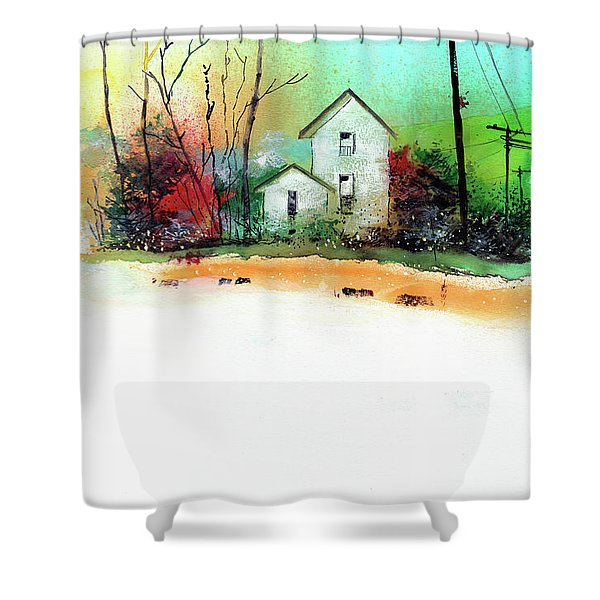 White Houses Shower Curtain
