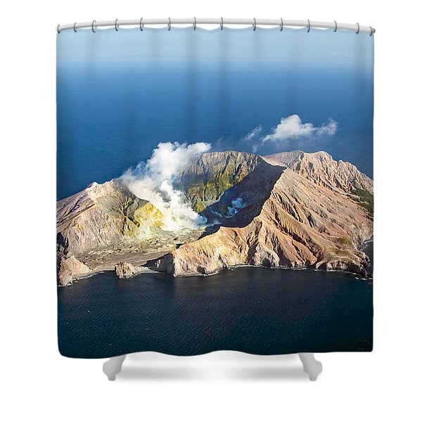 White Island Shower Curtain