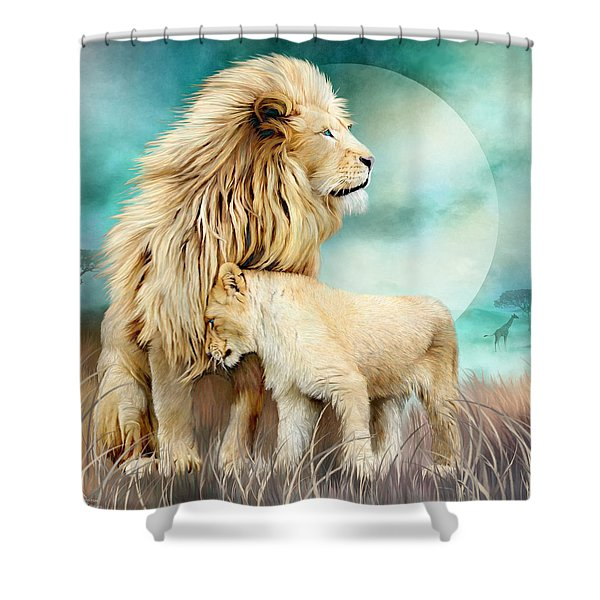 White Lion Family - Protection Shower Curtain