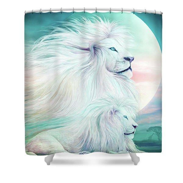 White Lion - Spirit King Shower Curtain
