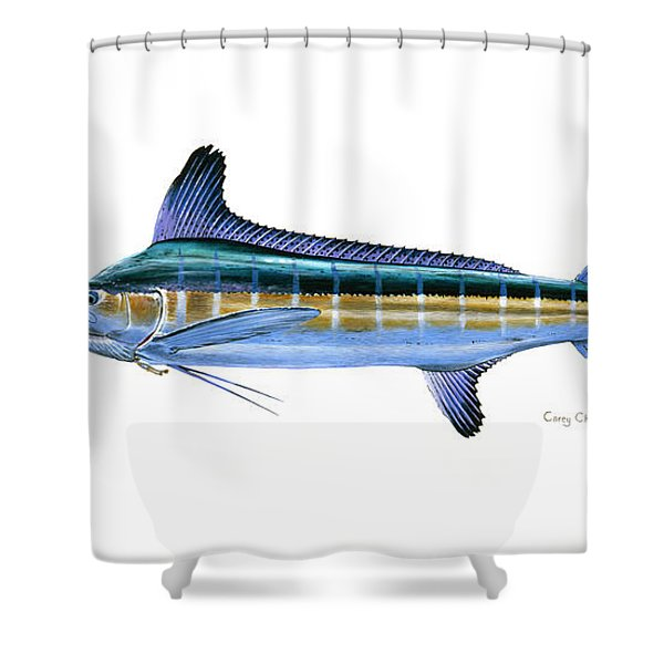 White Marlin Shower Curtain