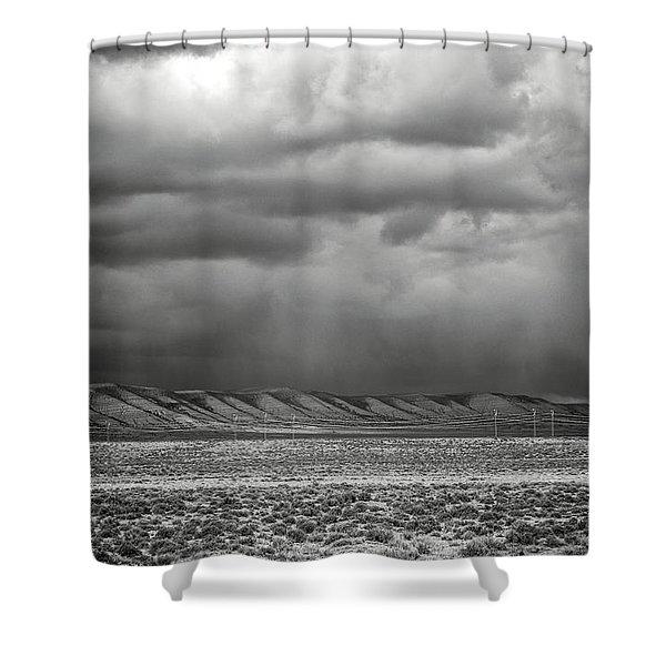 White Mountain Shower Curtain