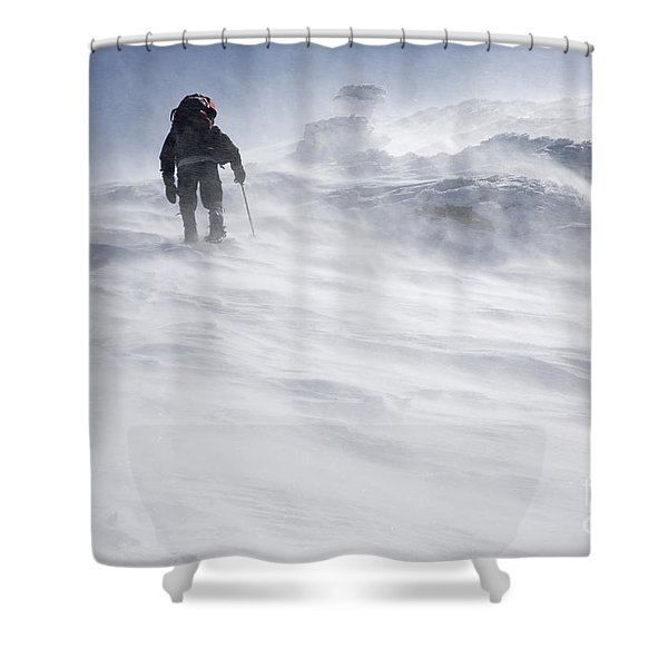 Shower Curtain featuring the photograph White Mountains New Hampshire - Extreme Weather by Erin Paul Donovan