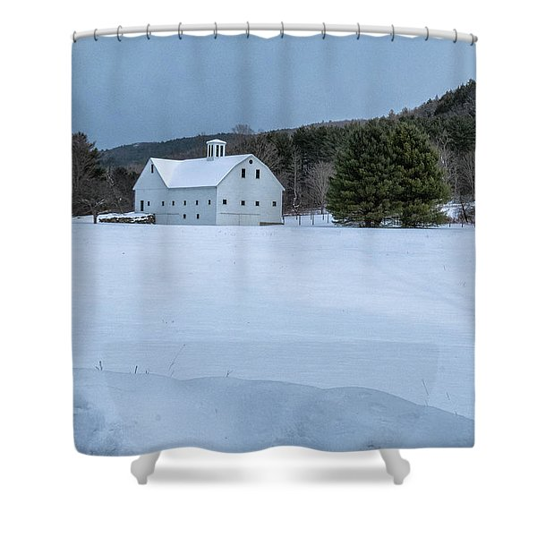 Shower Curtain featuring the photograph White On White by Tom Singleton