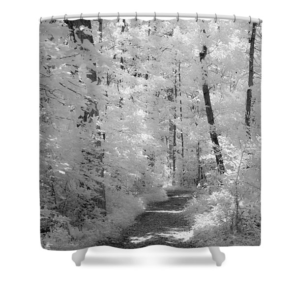 White Path Shower Curtain