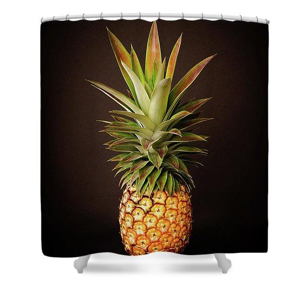White Pineapple King Shower Curtain