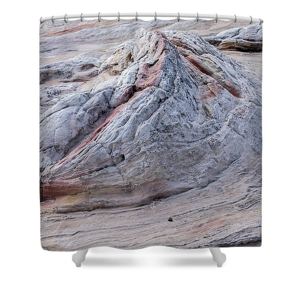 White Pocket Formation Shower Curtain