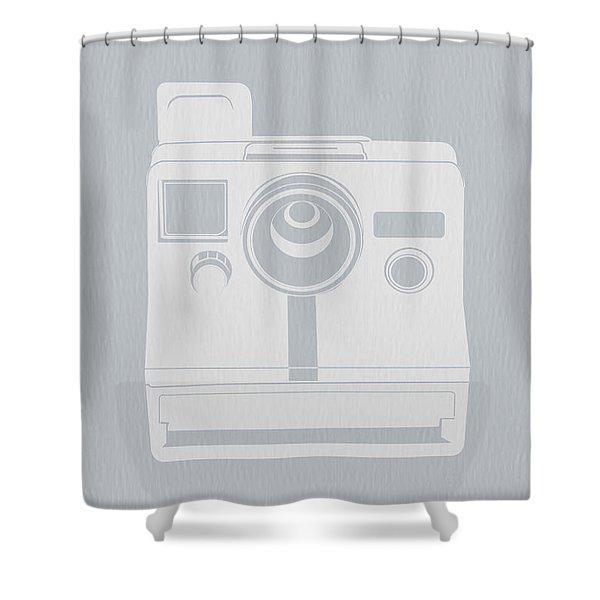 White Polaroid Camera Shower Curtain