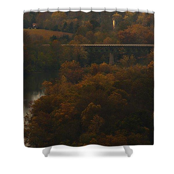 White River Foliage Shower Curtain