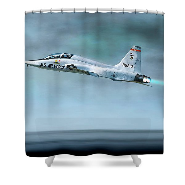White Rocket Shower Curtain