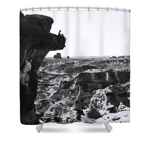 White Rocks Shower Curtain