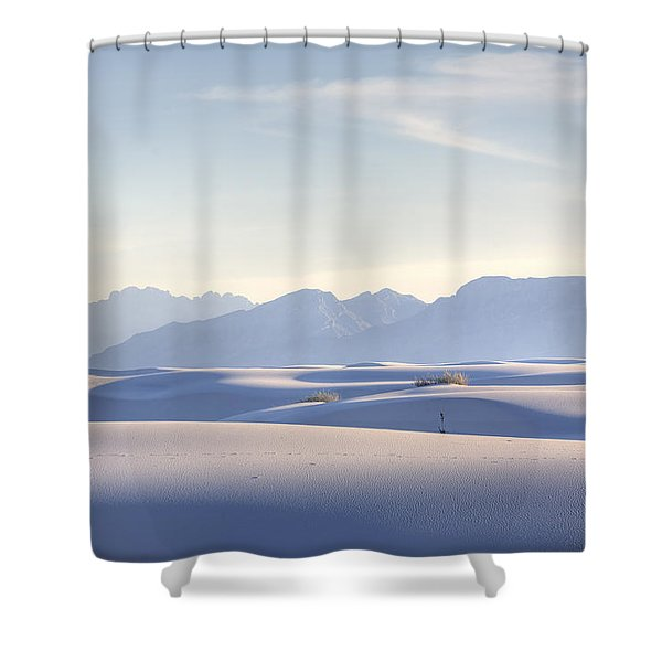 White Sands Blue Sky Shower Curtain