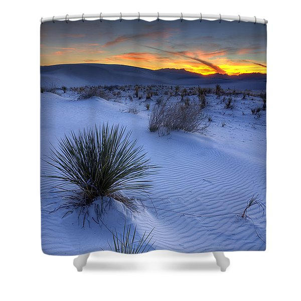 White Sands Sunset Shower Curtain