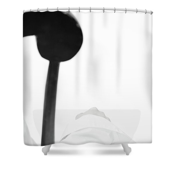 White Shirt #5578 Shower Curtain