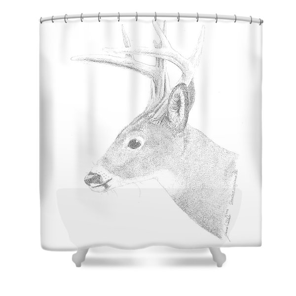 White Tailed Deer Iv Shower Curtain