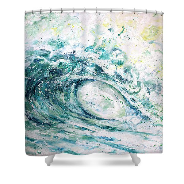 White Wash Shower Curtain