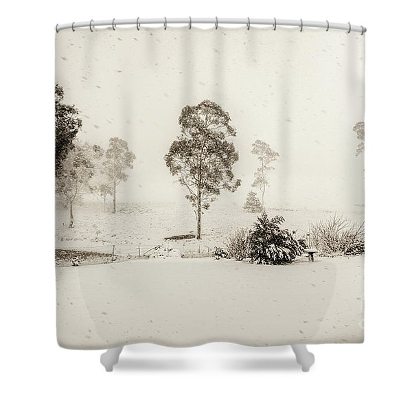 White Washed Shower Curtain