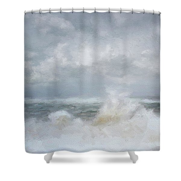 White Water Shower Curtain