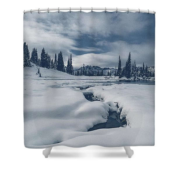 Whiteout Shower Curtain