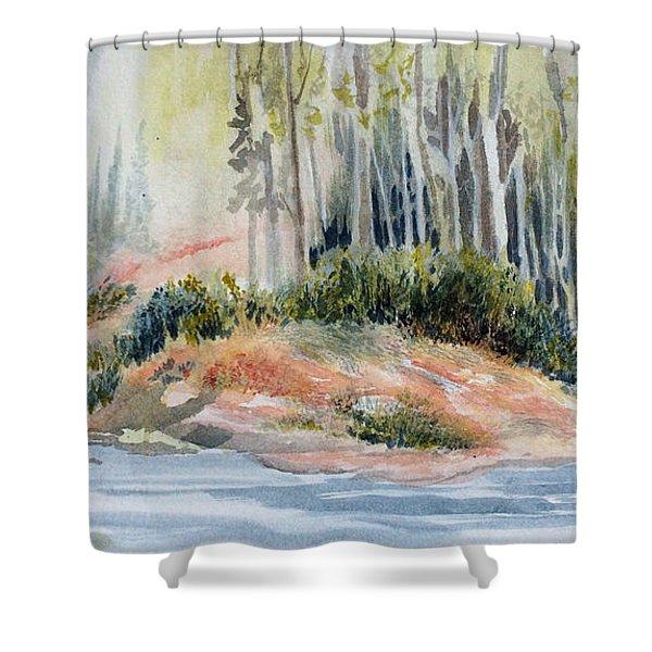 Whiteshell View Shower Curtain