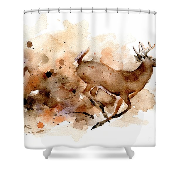 Whitetail Buck Shower Curtain