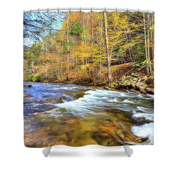 Whitetop River Fall Shower Curtain