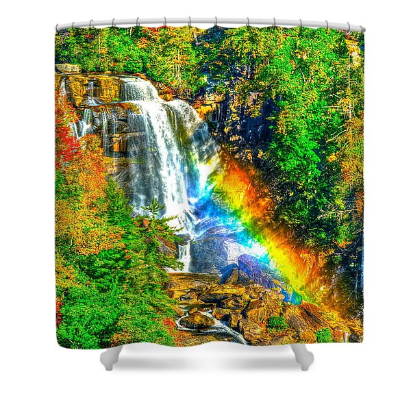 Whitewater Rainbow Shower Curtain