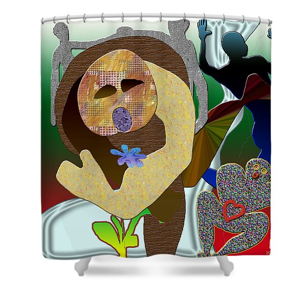 Whitout Title Shower Curtain