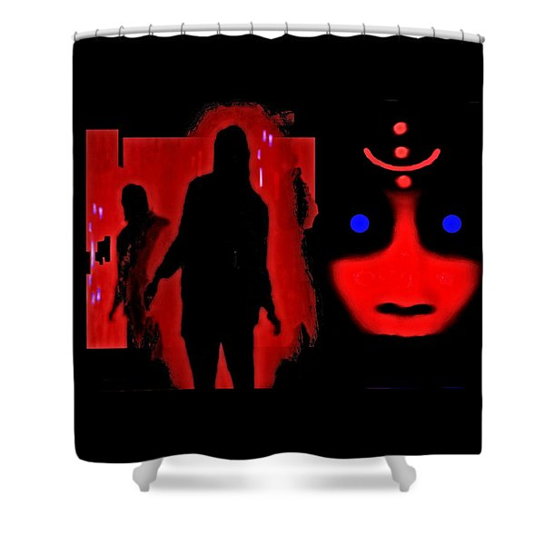 Who  Goes  There ? Shower Curtain