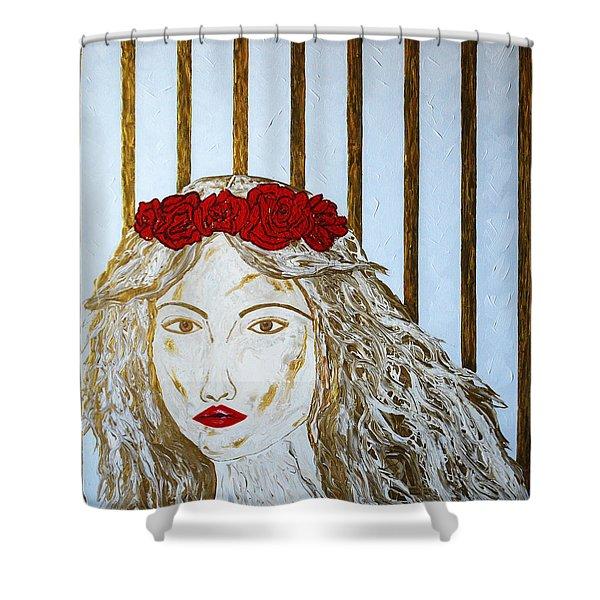 Who Is She? Shower Curtain