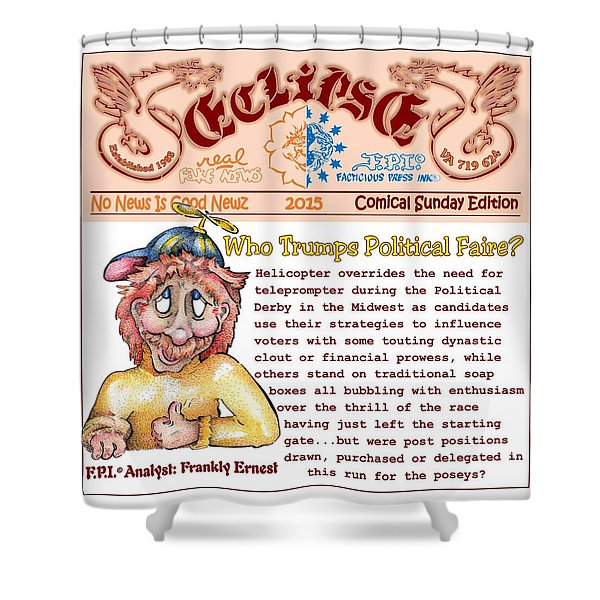 Real Fake News Analyst 3 Shower Curtain