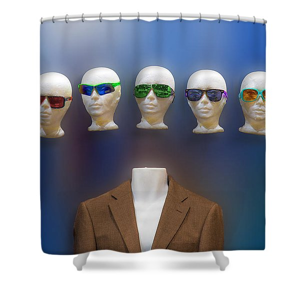 Who Shall I Be Today Shower Curtain