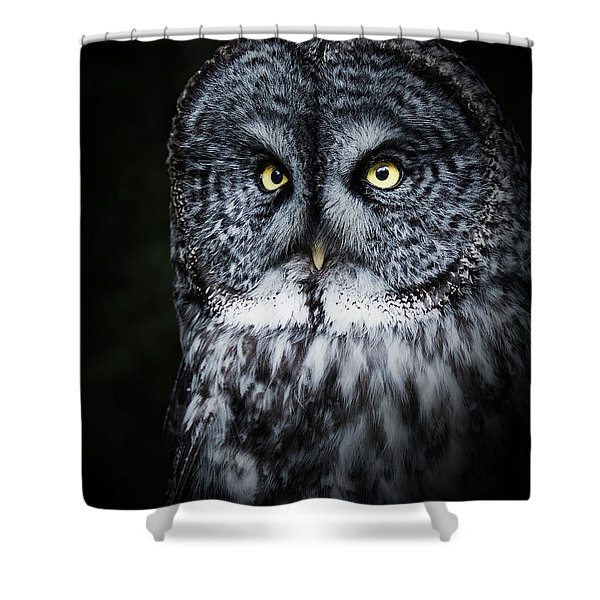 Whooo Are You Looking At? Shower Curtain