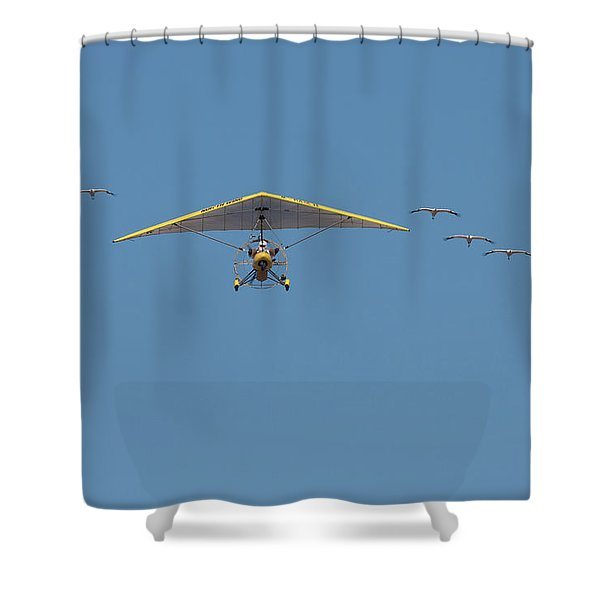 Whooping Cranes And Operation Migration Ultralight Shower Curtain