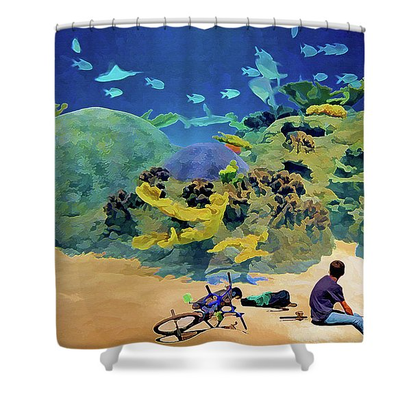 Who's Fishing? Shower Curtain