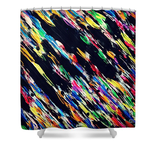 Why Did You Leave Me? Shower Curtain