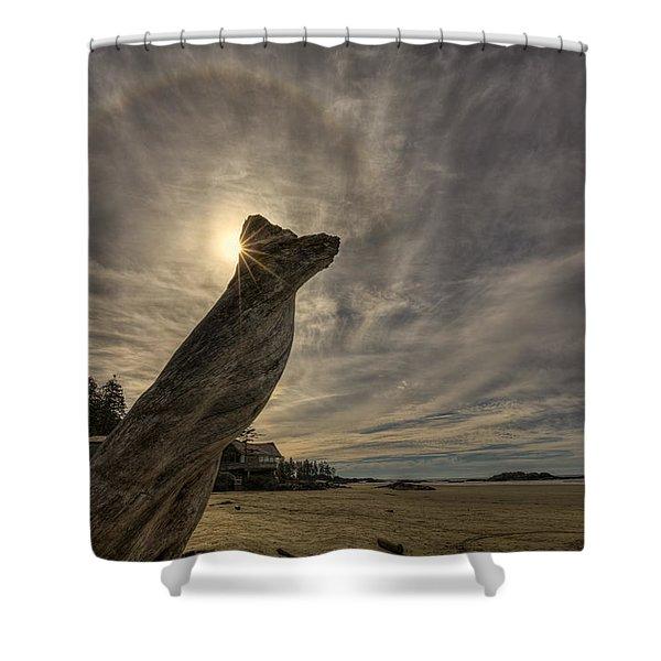 Wickaninnish Beach Sun Halo Shower Curtain