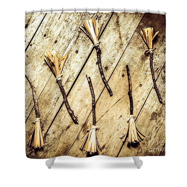 Wicked Witch Broomsticks Shower Curtain