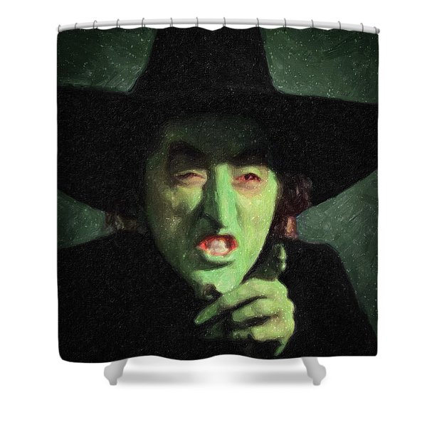 Wicked Witch Of The East Shower Curtain