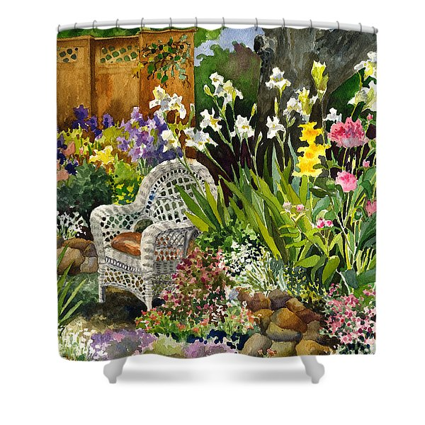 Wicker Chair Shower Curtain